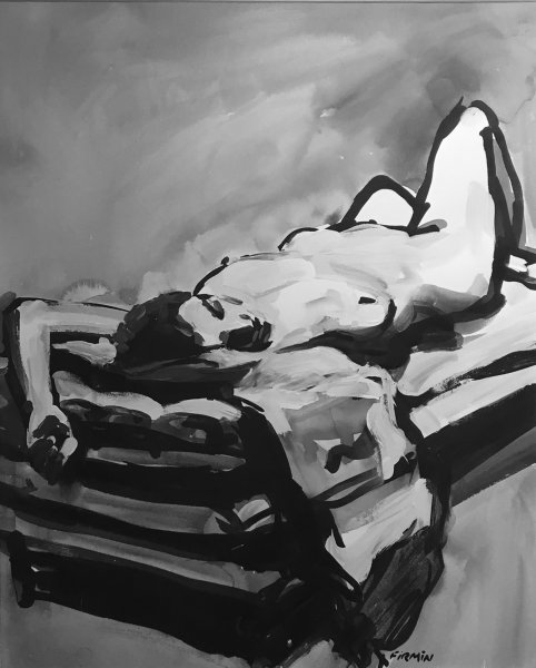 "Lisbeth Firmin, Christina Reclining, 18"" x 22"""