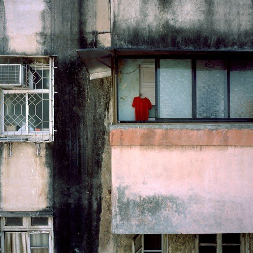 "Magda Biernat, Red T-shirt, Mumbai, India 2007, 12"" x 12"""