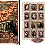 "Didier Cremieux, Stamp Series: The Borscht Belt, 24"" x 30"""