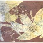 "Louise Kalin, Clematis II, 19"" x 27"" framed"