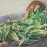 "Oneida Hammond, Cindy's Corn, 23.5"" x 16.5"" framed"