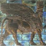 Corneel Verlaan, Memorial for the Winged Bull, Digital Print
