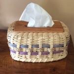 Martha Bremer, tissue box, wood & reed
