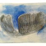 Megan Irving, Untitled (Blue Folk Landscape) Stoneware Clay Structure