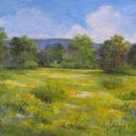 Nancy McShane, September Meadow, painting
