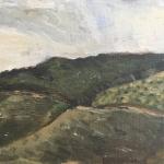 Roshan Houshmand, Montjuic, Barcelona, Oil on Canvas