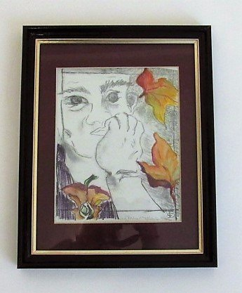 Tabitha-Gilmore-Barnes-Eve-Self-Portrait-c-1995-lithograph-with-colored-pastels