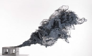"Richard Friedberg, Black Cloud, 2014 42""x54""x81"", Aluminum"