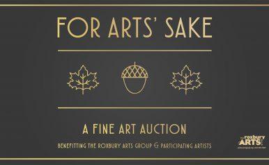 October 2: For Arts' Sake